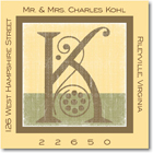 Name Doodles - Square Address Labels/Stickers (Deco Yellow)
